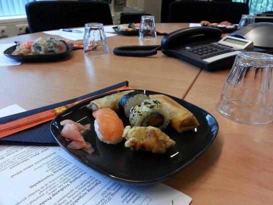 Veldkamp Produkties kantoorvergadering