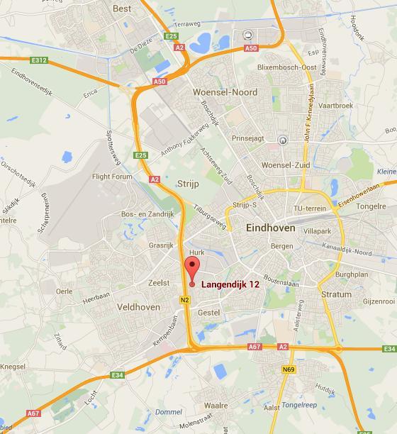 Google Maps Langendijk 12 Eindhoven