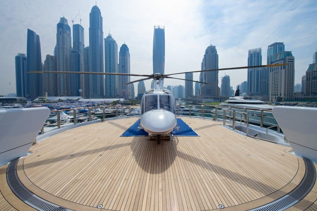 Helicopter Dubai Boat Show