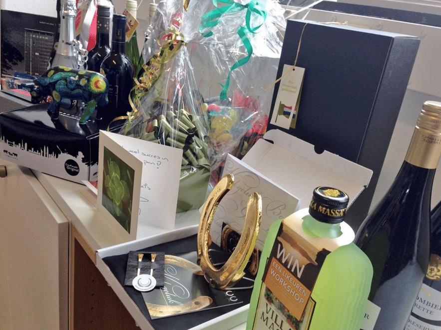 cadeaus opening Veldkamp Produkties