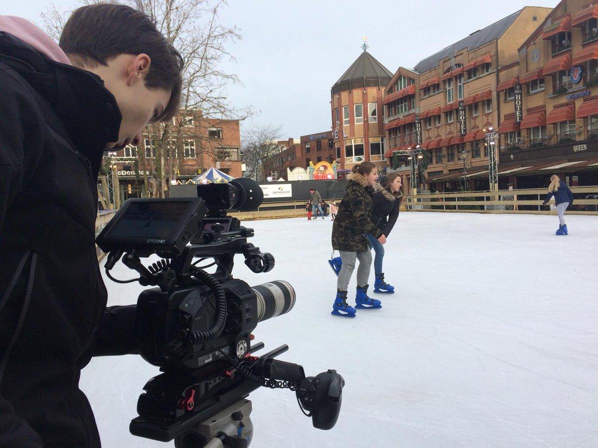 Opnames op de schaatsbaan