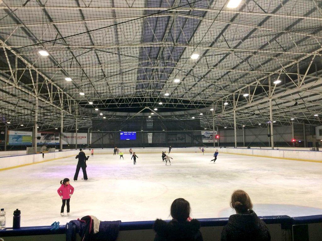Opnames op de ijsbaan