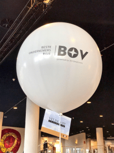 Ballon met logo van de BOV Awards