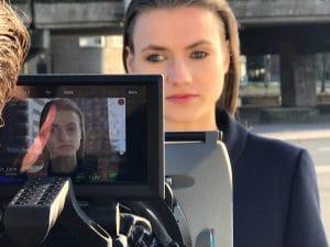 Opnames Sioux, actrice voor de camera
