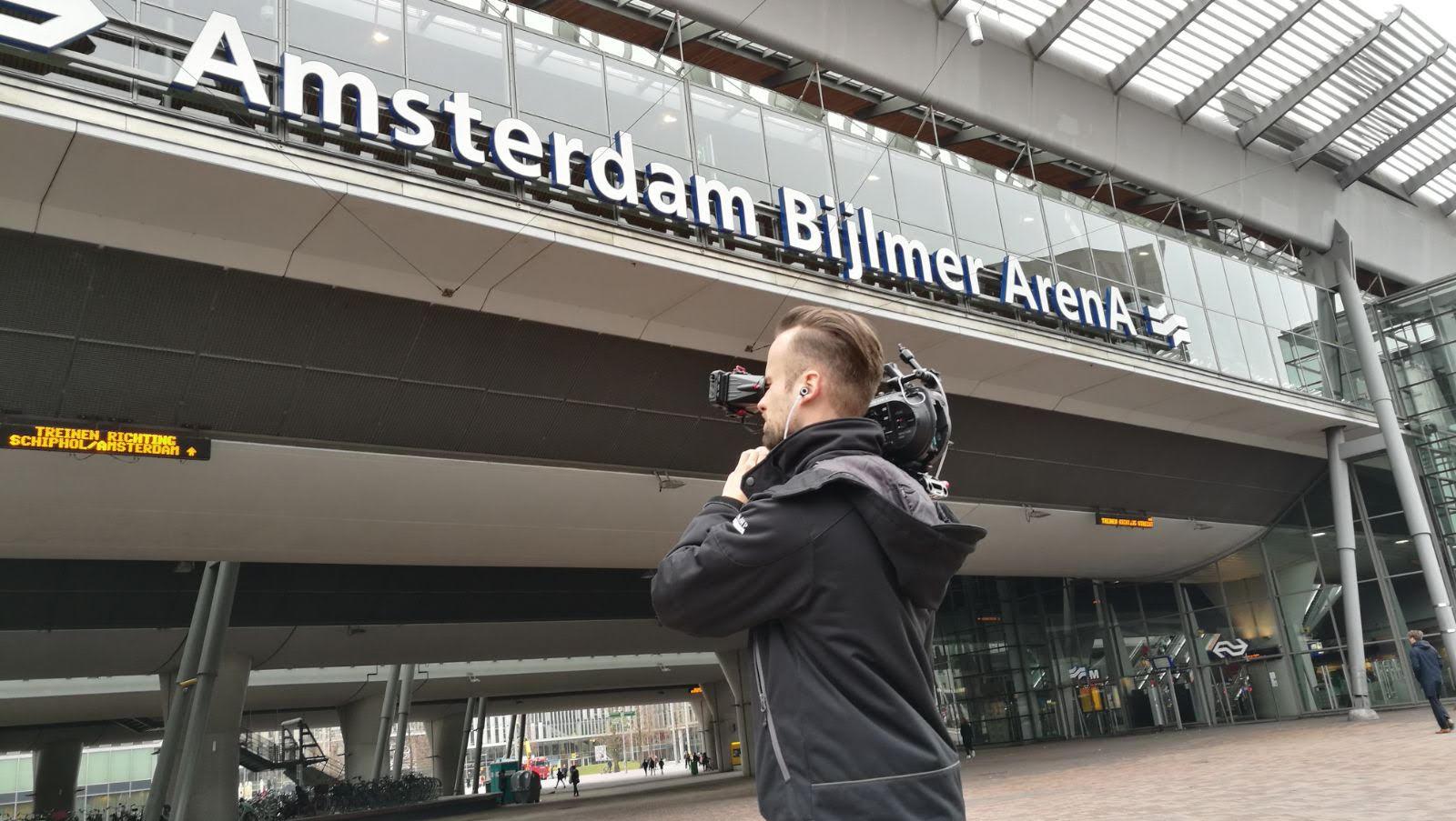 Opnames op station Amsterdam Bijlmer ArenA