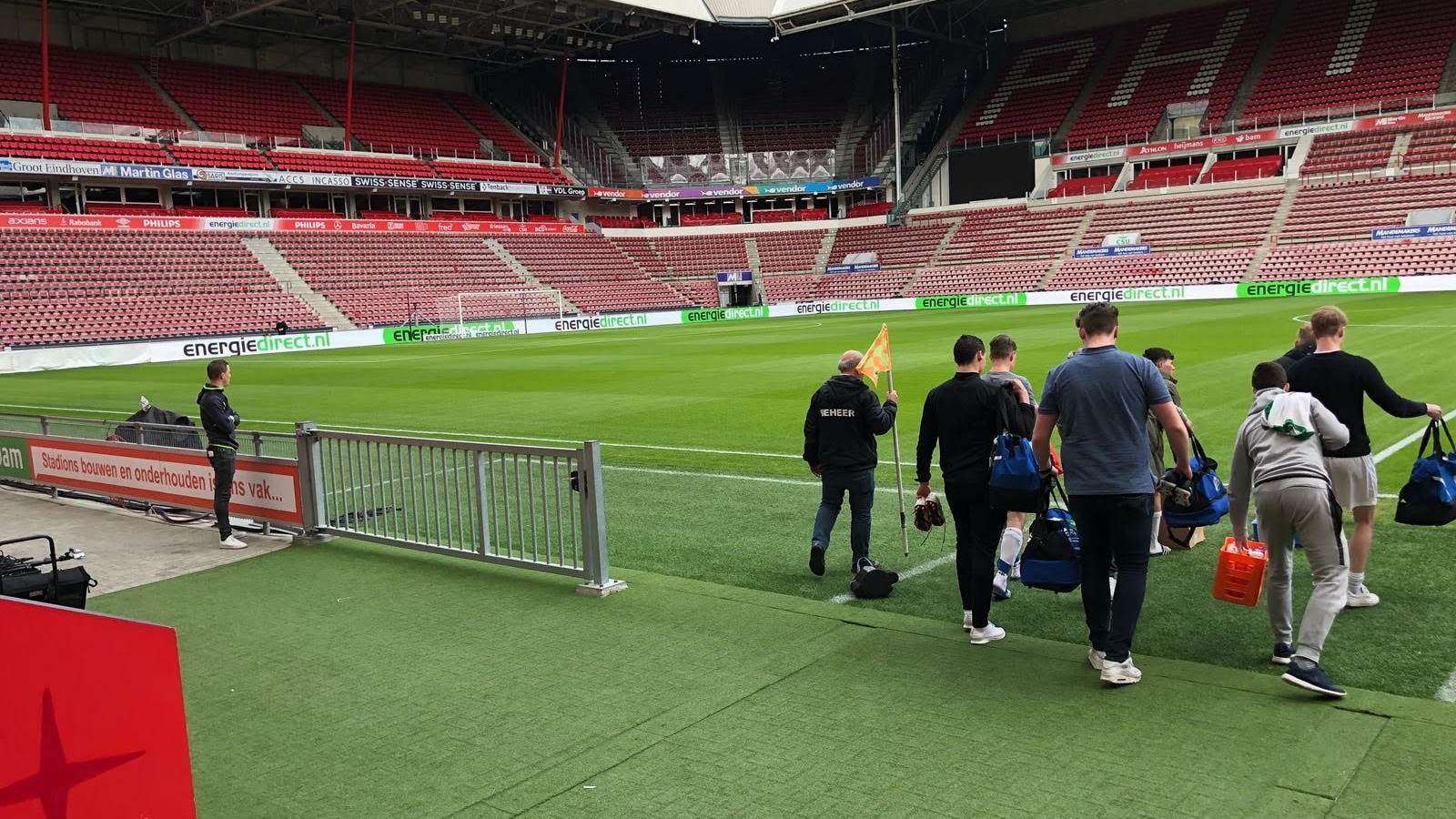 Opnames voor Triple Double in het PSV stadion
