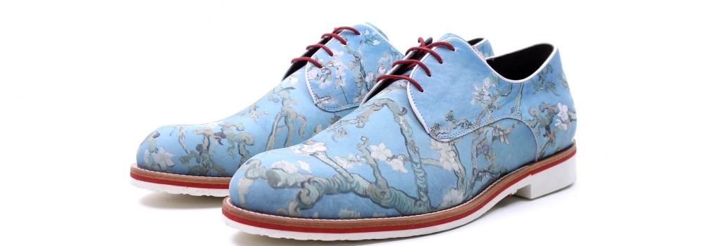 blauwe van Gogh schoenen