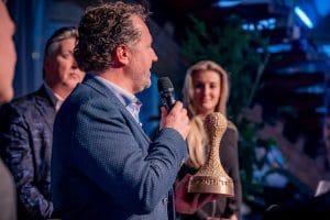 Jeroen spreekt zijn dankwoord uit voor de awardwinst