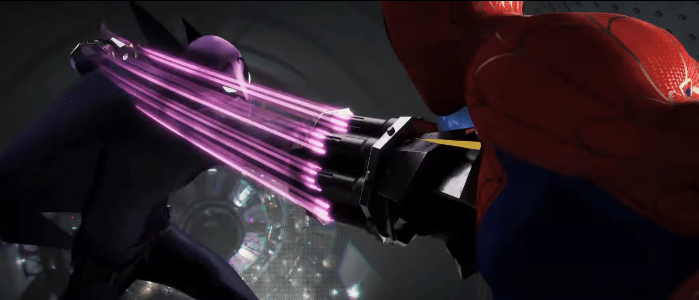 Spiderman still met veel beweging