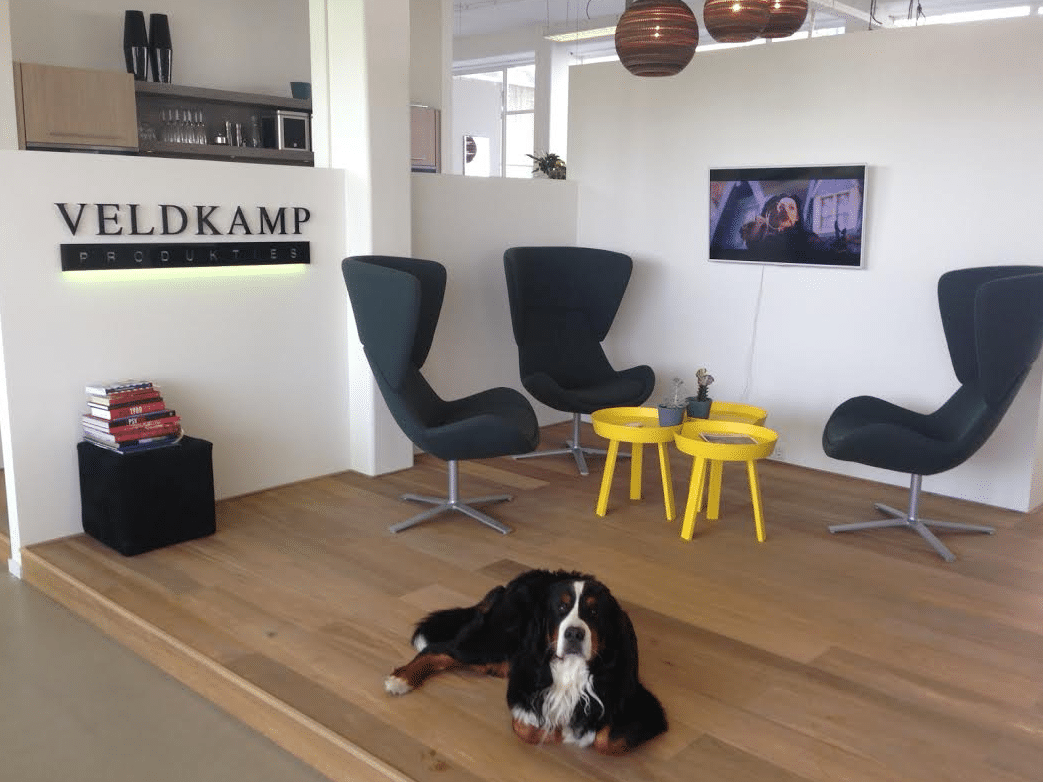 Veldkamp Produkties kantoor met Guus